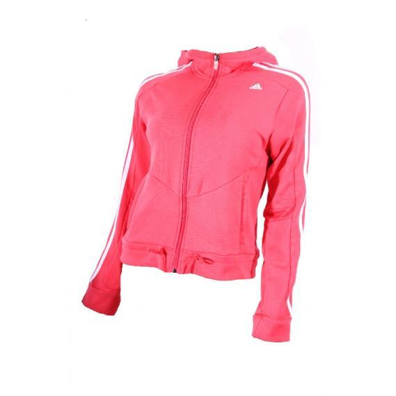 Damen Kapuzenjacke Adidas 3 Streifen