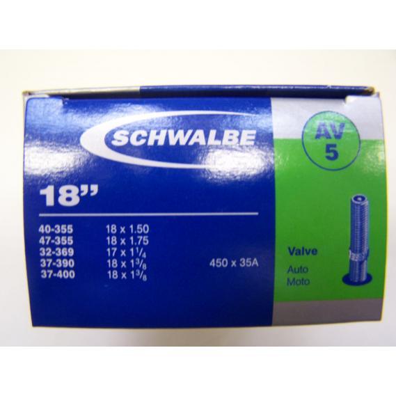 Schlauch Schwalbe (18x1,75-1 3/8) 5 AV-Ventil