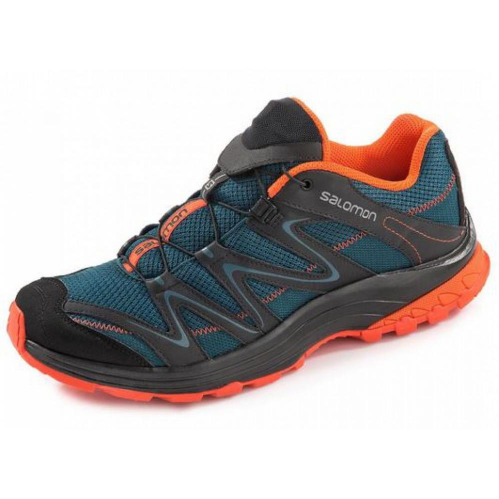 Salomon Men outdoor shoe Salomon Trail Score blue orange IxtSq