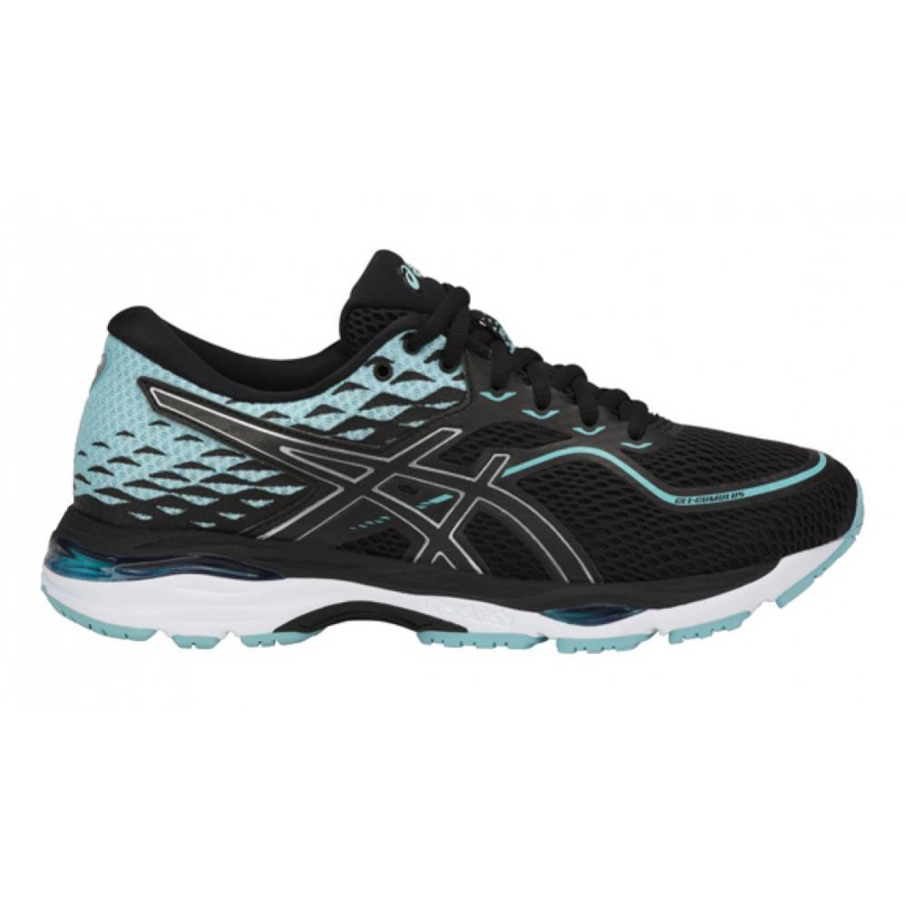 Asics Women running shoe Asics Gel-Cumulus 19 black-blue ...