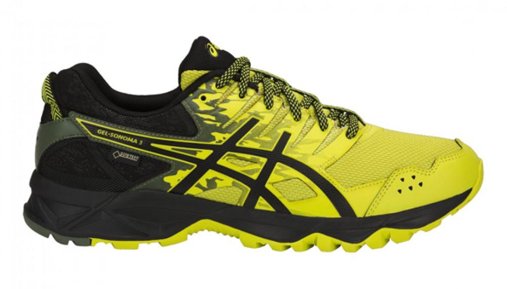 Asics Men running shoes Asics Gel-Sonoma 3 GTX yellow-black   buy ...