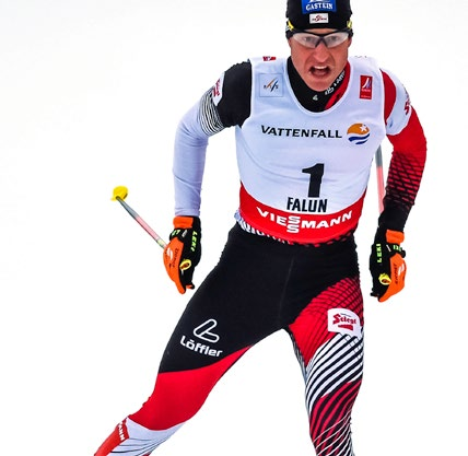 FALUN,SWEDEN,26.FEB.15 - NORDIC SKIING, NORDIC COMBINED, CROSS COUNTRY SKIING - FIS Nordic World Ski Championships, Gundersen, 10km, men. Image shows Bernhard Gruber (AUT). Photo: GEPA pictures/ Oliver Lerch